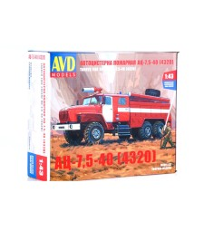 Fire Engine AC-7,5 (URAL-4320) - Die-cast Model Kit
