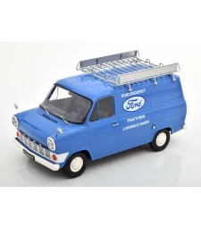 Ford Transit Panel van with roof rack, Ford Customer service 1970 light blue