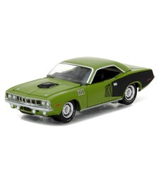 1971 Plymouth Barracuda - Sassy Grass Green Solid Pack - GreenLight Muscle Series 18