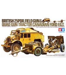 1:35 Британски артилерийски влекач 25 PDR (Br. 25 PDR. Gun & Quad Tractor) - 1 фигура