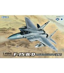 1:48 Израелски изтребител F-15B/D Israeli Air Force & U.S.Air Force 2 в 1