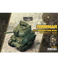 Американски среден танк М4А1 Шърман (U.S. Medium Tank M4A1 Sherman) - сглобка без лепило