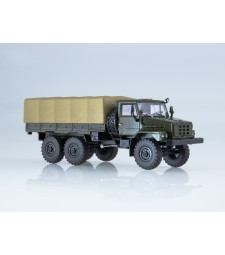 URAL-4322 Flatbed Truck with Tent - khaki