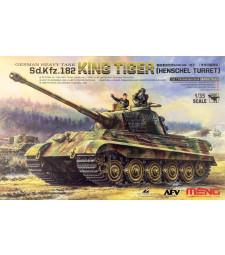 1:35 Германски тежък танк Sd.Kfz.182 KING TIGER с оръдеен купол HENSCHEL (GERMAN HEAVY TANK Sd.Kfz.182 KING TIGER, HENSCHEL TURRET)