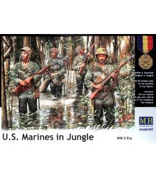 1:35 Пехотинци от САЩ в джунглата през Втората световна война - 4 фигури