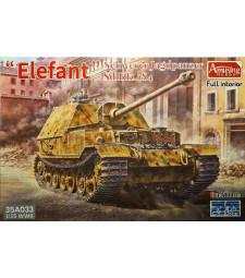 1:35 Германско самоходно противотанково оръдие SdKfz.184 Schwerer Jagdpanzer ELEFANT с интериор