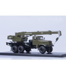 Truck Crane KS-3575 KRAZ-255B - khaki