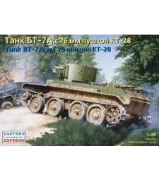 1:35 Съветски артилерийски танк БТ-7А с КТ-28 76,2 мм оръдие (BT-7А Russian Artillery Light Tank with KT-28 76.2 mm Gun)