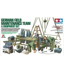 1:35 Германски екип за техническо обслужване и комплект оборудване с 2 фигури