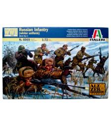 1:72 Втора световна война: руска пехота, зимни униформи (WWII-RUSSIAN INFANTRY, WINTER UNIFORMS) - 48 фигури