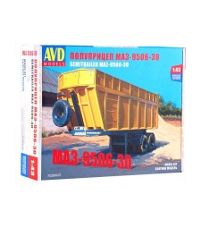 MAZ-9506-30 dumper semitrailer - Die-cast Model Kit