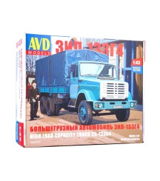 ZIL-133G4 flatbed truck with tent - Die-cast Model kit
