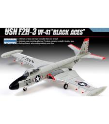 """1:72 Американски изтребител USN F2H-3 """"VF-41 BLACK ACES"""""""