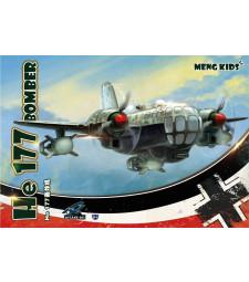 Бомбардировач Хе 177, специално издание, сглобка без лепило - Детска колекция MENG