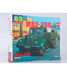 MAZ-200 flatbed truck - Die-cast Model Kit