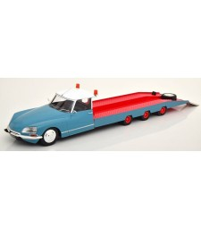 Citroen DS Tissier Car Transporter 1970 blue/red (modelcar Citroen DS 19 not included!)