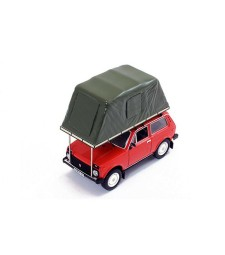 Lada Niva 1981 Red With Roof Tent