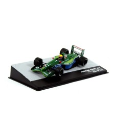 1991 Jordan Ford 191 Team 7UP Jordan #32 Roberto Moreno Italy GP F1, green/blue