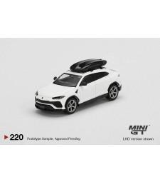 Lamborghini Urus Bianco Monocerus Matt With Roof Box, White/Black