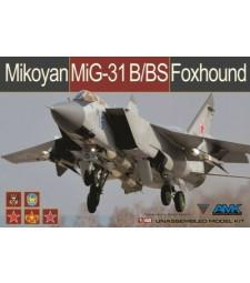"1:48 Руски свръхзвуков изтребител Foxhound МИГ-31Б/БС ""Foxhound"" (Mikoyan MiG-31B/BS Foxhound)"