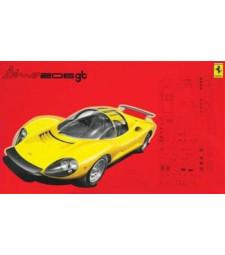 1:24 Автомобил Ferrari Dino 206 GT 1967