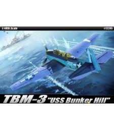 """1:48 Американски бомбардировач TBM-3 """"USS BUNKER HILL"""""""