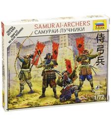 1:72 Самураи стрелци - 5 фигури, сглобка без лепило