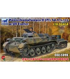 1:35 Германски танк PzKpfw. II(FI) Sd.Kfz.122 с ремарке UE