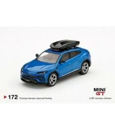 Lamborghini Urus, Blue Eleos With Roof Box