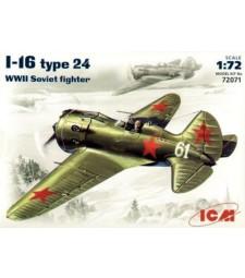 1:72 Съветски изтребител И-16 Тип 24 (I-16 type 24, WWII Soviet Fighter)
