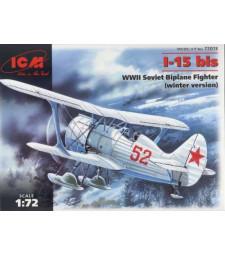1:72 Съветски биплан И-15 Бис, зимна версия (I-15 bis, WWII Soviet Biplane Fighter, winter version)