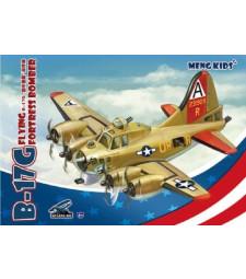 Бомбардировач летяща крепост Б-17Г, сглобка без лепило - Детска колекция MENG