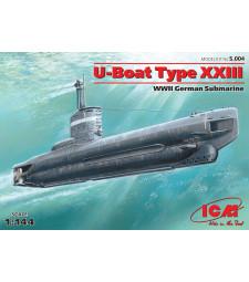 1:144 U-Boat Type XXIII, WWII German Submarine