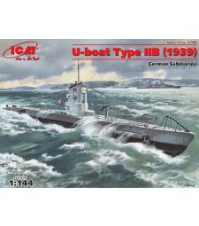 1:144 U-Boat Type IIB (1939), German Submarine