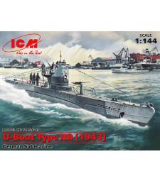 1:144 Германска подводница U-Boat Тип IIB (1943)