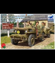 1:35 US GPW 1/4 ton 4/4 камион (Мод.1942) с 10-CWT ремарке и екипаж