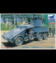 1:35 Брониран автомобил Armored Krupp Protze Kfz.69 с гаубица 3.7cm Pak 36 (късна версия)