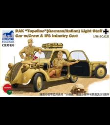 """1:35 DAK """"Topolino"""" (немски / италиански) Лек автомобил с персонал с екипаж и IF8 Infa"""