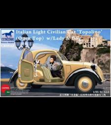 1:35 Италианска лека цивилна кола (отврен покрив) с дама, момиче и куче