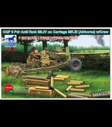 1:35 OQF 6 Pdr противотанково оръдие Mk.IV на шаси Mk.III с екипаж