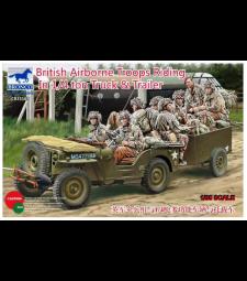 1:35 Британски въздушно-десантни войски в 1/4 т камион и ремарке