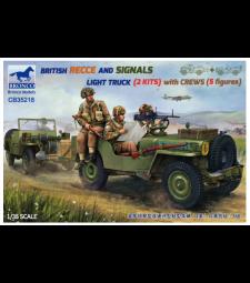 1:35 Британски лек камион Recce And Signals (2 комплекта) с екипаж (5 фигури)