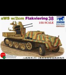 1:35 Германска полуверижна машинаs WS с 2cm Flakviering 38