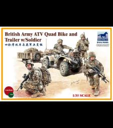 1:35 Британско ATV Quad Bike и ремарке с войник