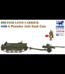 1:35 Британски влекач Loyd Carrier с 6-паундово противотанково оръдие
