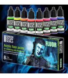 Paint Set - FLUOR paints (8 x 17 ml)