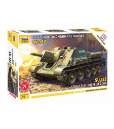 1:72 Съветски танков разрушител СУ-122 (SU-122 SOVIET TANK DESTROYER) - сглобка без лепило
