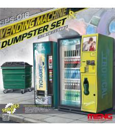 1:35 Вендинг машина и кош за боклук (VENDING MACHINE & DUSTBIN SET)