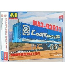 MAZ-93971 semitrailer with tent - Die-cast Model Kit