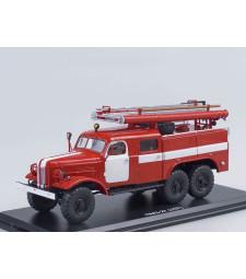 Fire truck PMZ-27 (ZIL-157K) white stripes